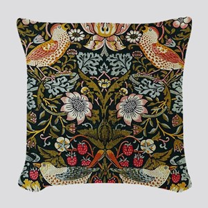 William Morris Strawberry Thief Woven Throw Pillow